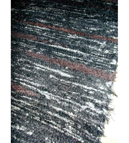 Bolyhos rongyszőnyeg szürke, barna 75 x 150 cm