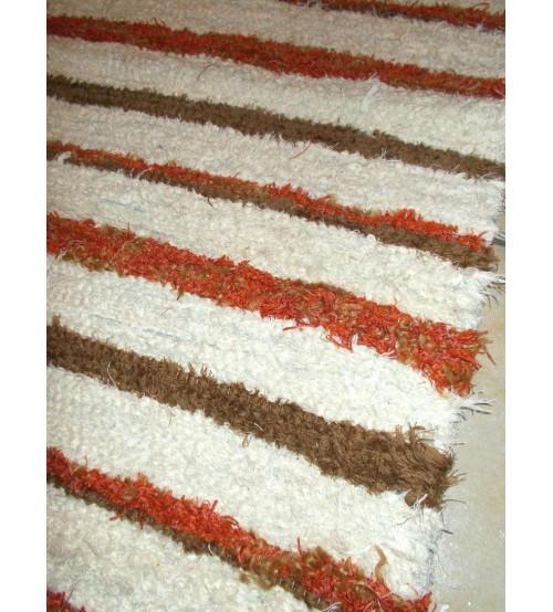 Bolyhos rongyszőnyeg nyers, barna, sárga 75 x 150 cm