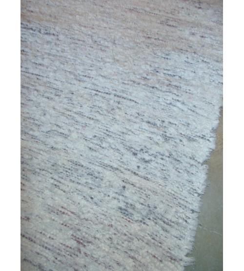 Bolyhos rongyszőnyeg nyers, lila 55 x 145 cm