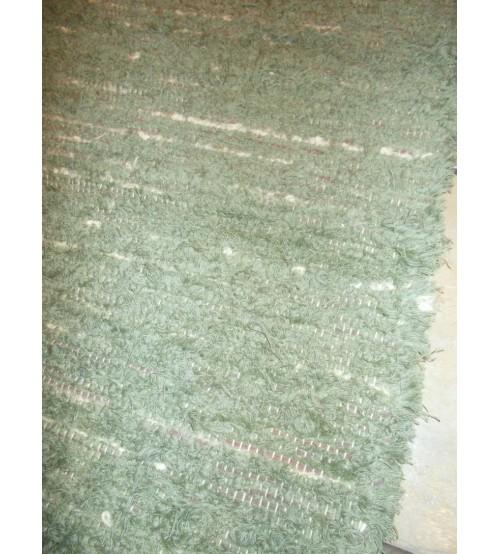 Bolyhos rongyszőnyeg zöld 75 x 195 cm