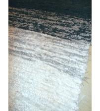 Bolyhos rongyszőnyeg szürke, fehér 75 x 150 cm