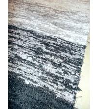 Bolyhos rongyszőnyeg szürke, fehér 75 x 200 cm