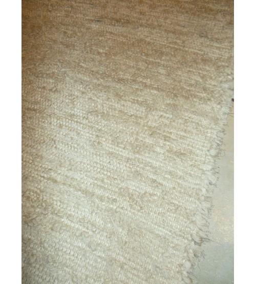 Bolyhos rongyszőnyeg barna 75 x 120 cm