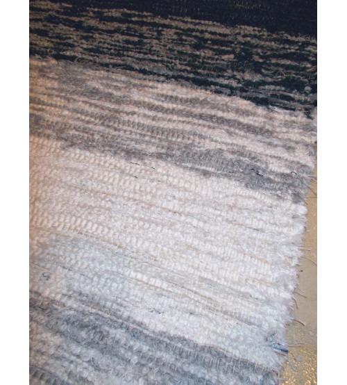 Bolyhos rongyszőnyeg szürke, fehér 75 x 100 cm
